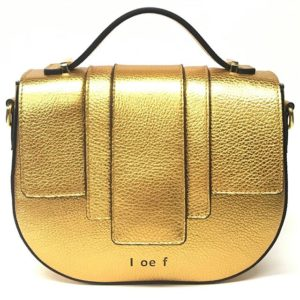 ioef bag oro borsa in pelle martellata