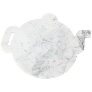 vassoio marmo bianco teiera