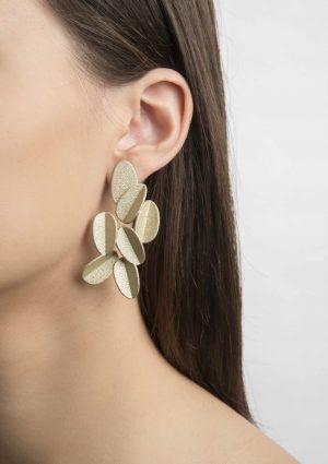 orecchini_Leaves_metallici